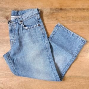 Lucky Brand Cropped Kick Light Wash Jeans Dungaree